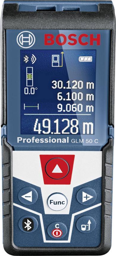 Telemetru cu laser şi Bluetooth Bosch Professional GLM 50 C, 50 m